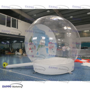 10ft Inflatable Christmas Photo Snow Globe Bubble With Air Blower