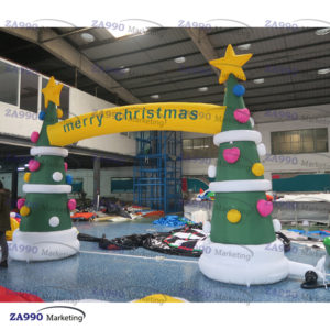 13ft Inflatable Trees Christmas Archway With Air Pump