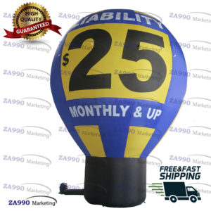 20ft Inflatable Hot Air Balloon For Advertising With Air Blower