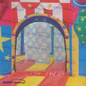 20x16ft Commercial Inflatable Clown Bounce House & Slide With Air Blower