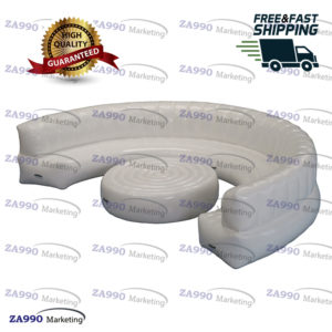16ft Inflatable White Sofa & Table For Show Events With Air Pump