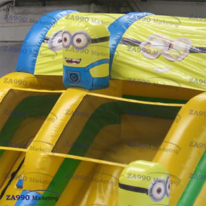 23×11.5ft Inflatable Minions Bounce House With Slide With Air Blower