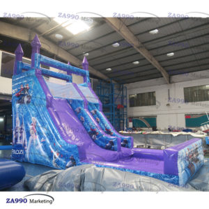 23×11.5ft Inflatable Frozen Bounce House With Slide & Pool With Air Blower