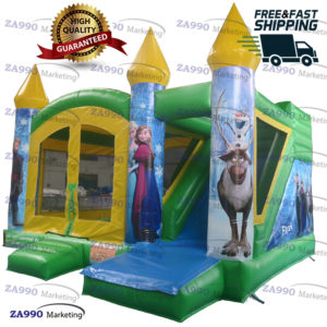 16x13ft Inflatable Frozen Anna and Elsa Castle With Air Blower