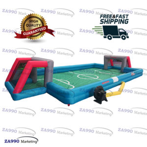 26x13ft Inflatable Football Field Soccer Game With Air Blower