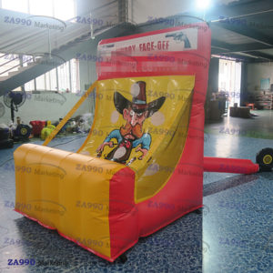 5x5ft Inflatable Cow Boy Dart Game With Air Blower