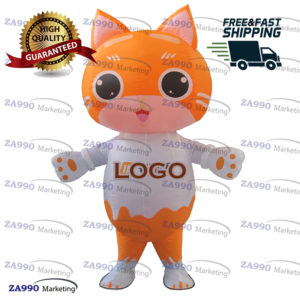 6.6ft Inflatable Cat Character Advertising With Air Blower