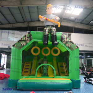 18x15ft Inflatable Army Air Shooter Gun Game Bouncy With Air Blower