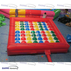 15x15ft Inflatable Twister Funny Sport Game With Air Blower