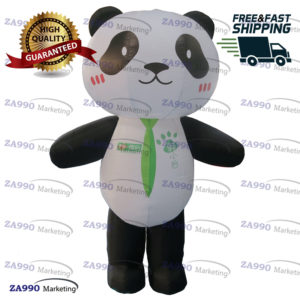 6.6ft Inflatable Panda Bear Advertising Animal Shop With Air Blower