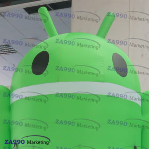 20ft Inflatable Android Advertising For Cell Phones With Air Blower