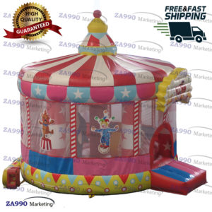 15×11.5ft Inflatable Circus Clown Bounce House With Air Blower