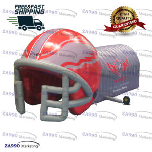 16x10ft Inflatable Football Helmet Tunnel With Air Blower