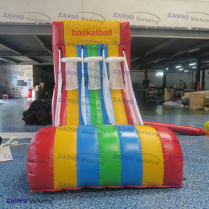 11.5×6.6ft Inflatable Basketball Hoop With Air Blower