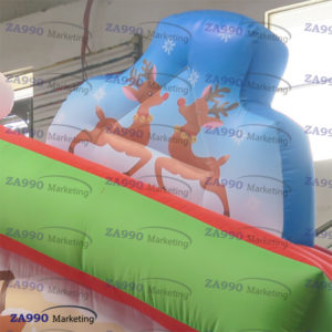 10x10ft Inflatable Christmas House Santa Claus Tent With Air Blower