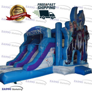 20x13ft Inflatable Frozen Bounce House Princess Slide With Air Blower
