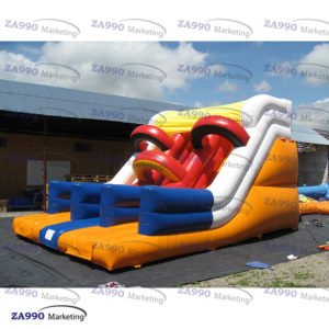 13x23ft Inflatable Bounce House With 2 Slide Moonwalk With Air Blower