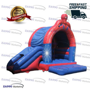 11.5×11.5ft Inflatable Spiderman Bounce House Castle With Air Blower