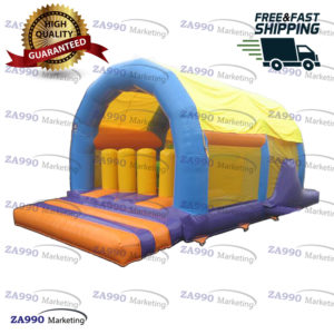 20x13ft Inflatable Bounce House & Obstacle Course With Air Blower