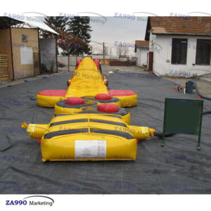 50×6.6ft Inflatable Course Obstacle & Slide For Pool With Air Blower