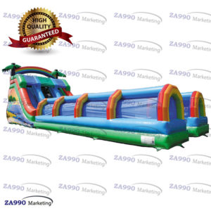 49x20ft Inflatable Water Slides Tropical Bounce With 3 Air Blowers