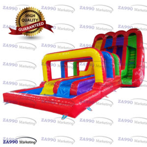 49x20ft Giant Inflatable Water Triple Slip N Slides With 2 Air Blowers