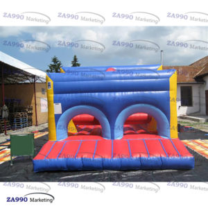 13x46ft Giant Inflatable Course Obstacle & Slide With Air Blower