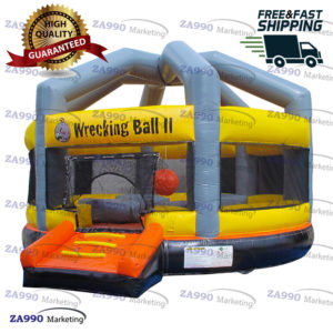 20ft Inflatable Wrecking Ball Bounce With Air Blower