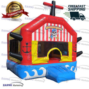 13x13ft Inflatable Pirate Bounce House Moonwalk With Air Blower