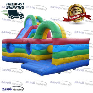 20x20ft Inflatable Course Obstacle & Bounce Slide With Air Blower