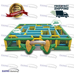 33x33ft Inflatable Corn Maze With 2 Air Blower