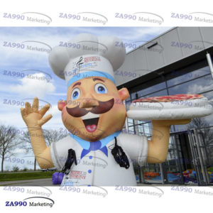 20ft Inflatable Chef Character Advertising Restaurant Promotion With Air Blower