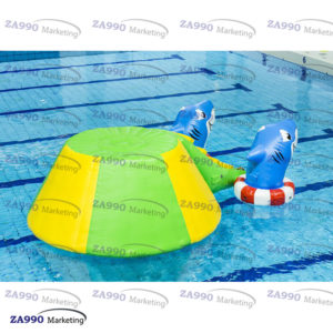 10x10ft Inflatable Sharks Floating Water For Pool With Air Pump