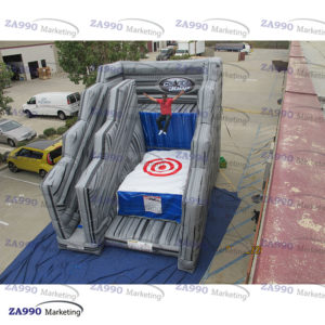 20x13ft Inflatable Cliff Jump Bouncer Trampoline With Air Blower