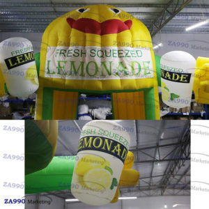 10×11.5ft Inflatable Lemonade Drink Tent Booth With Air Blower