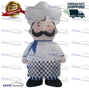 16ft Inflatable Chef Character Butchery Advertising Restaurant Promotion