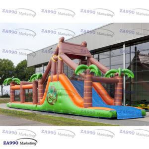 50x13ft Inflatable Jungle Course Obstacle With 2 x Air Blower