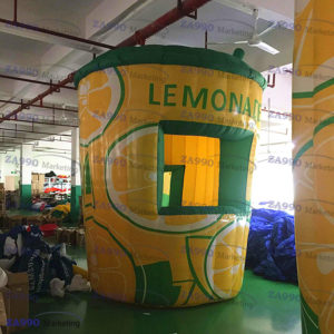 10×11.5ft Inflatable Lemonade Drink Concession Stand Tent With Air Blower