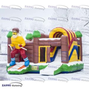 20x16ft Commercial Inflatable Skier Bounce House & Slide With Air Blower