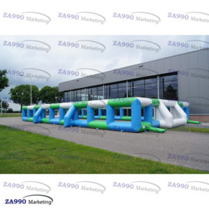 66x33ft Inflatable Boarding Field Football Soccer Sport Arena With Air Blower
