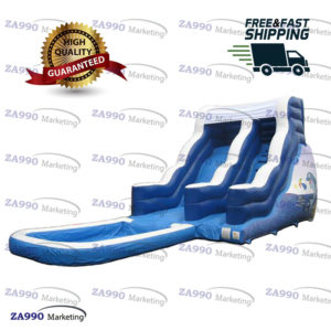 33x13ft Commercial Inflatable Slide With Pool Water With Air Blower