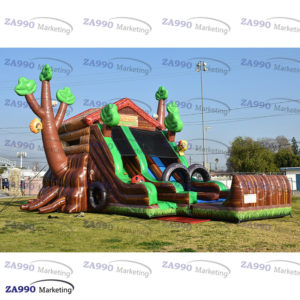 23x16ft Inflatable Trees Bounce House & Slide With Air Blower