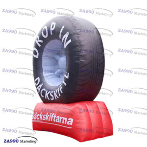 10ft PVC Inflatable Wheel Car Tire Advertising Promotion With Air Blower