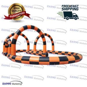 66x33ft Inflatable Race Zorb Ball Track Go Kart With Air Blower
