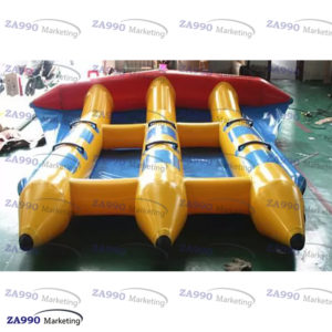 13x10ft Inflatable Banana Boat 6 Passenger Water Sled With Air Pump