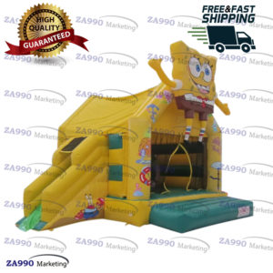 13x13ft Inflatable SpongeBob SquarePant Bounce House With Air Blower
