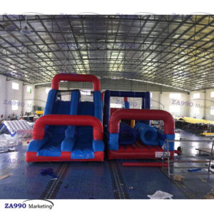 66x23ft Inflatable Runway U Shape Course Obstacle With 4 Air Blowers