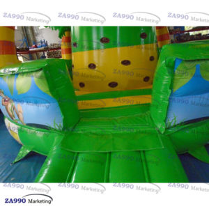 23x18ft Inflatable Rock Climbing Tower Monkey Jungle With Air Blower