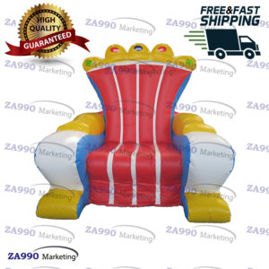 6.6ft Inflatable Chair King Throne With Air Blower