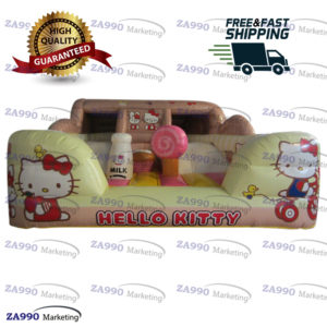 16x13ft Inflatable Hello Kitty Bounce House Castle With Air Blower
